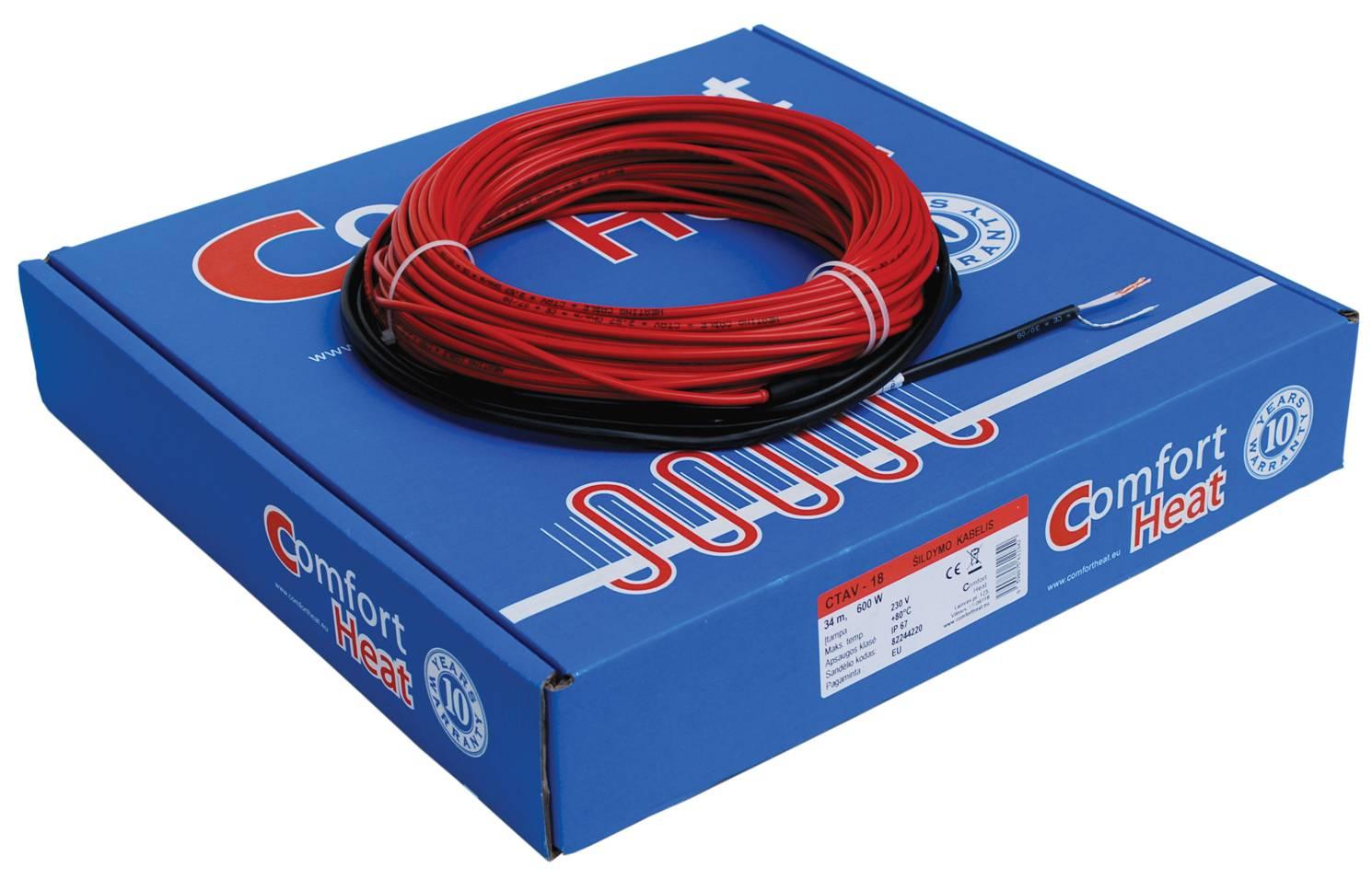 Šildymo kabelis CTAV-10, 40 m, 400 W