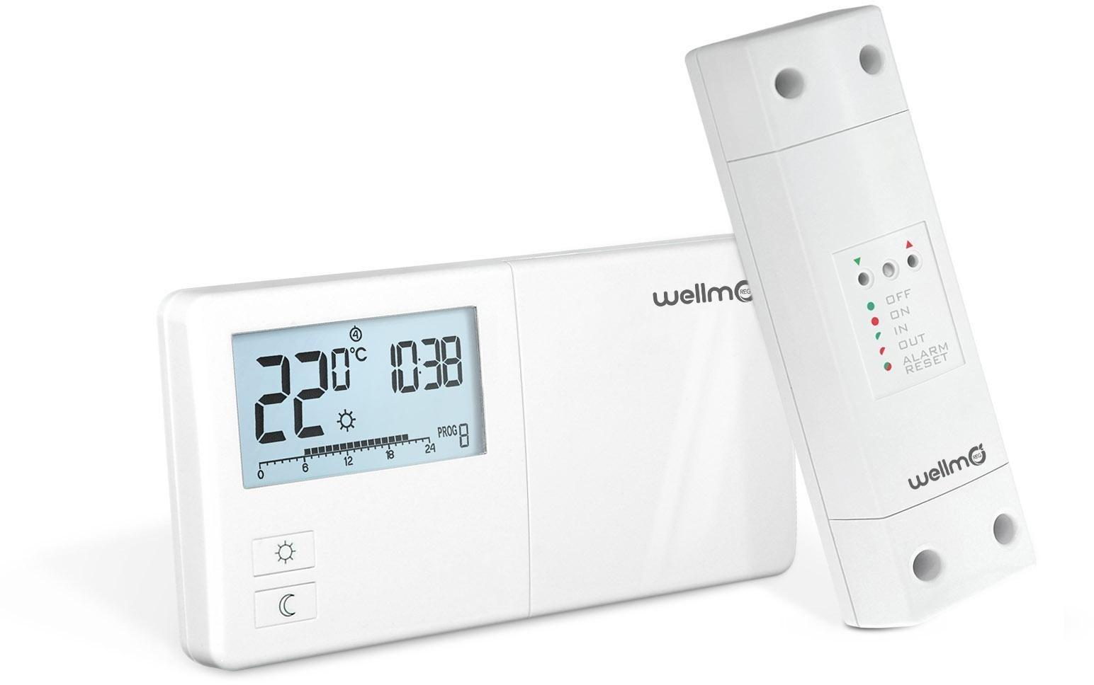 Belaidis programuojamas termoreguliatorius Wellmo WTH25, 16RF