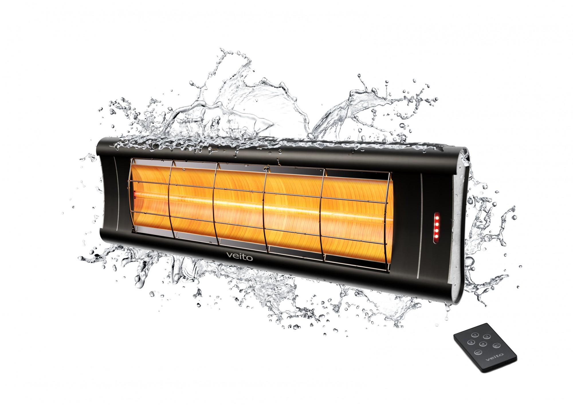 Anglies pluošto infraraudonųjų spindulių šildytuvas Veito Aero S