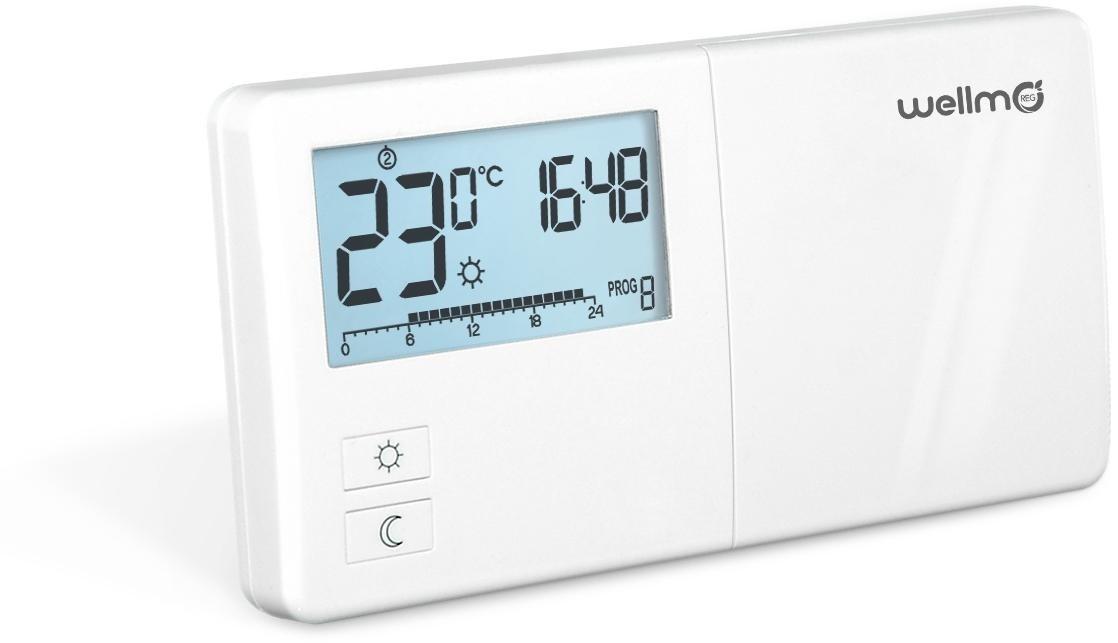 Programuojamas elektroninis termoreguliatorius Wellmo WTH25.08