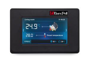 Bevielis kambario termostatas RADIO TOUCH X80 su ISM moduliu (su adapteriu)