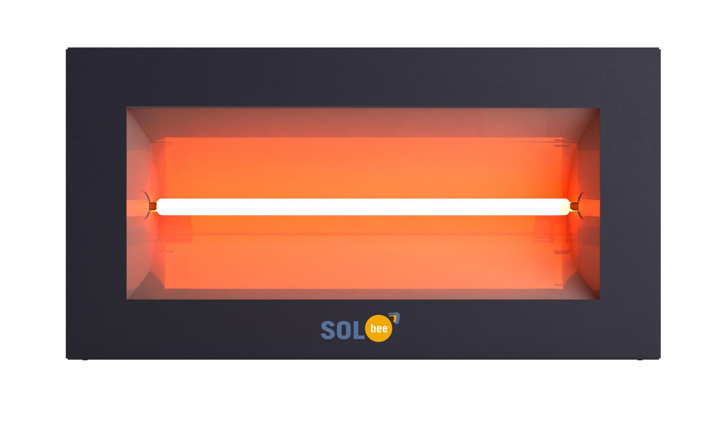 Infraraudonųjų spindulių šildytuvas SolBee SBH 15 C Dark Grey (1.5 kW, 2 m kabelis su kištuku)