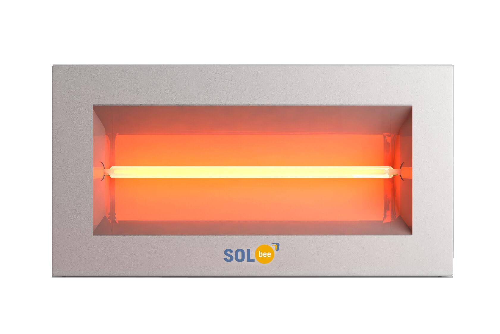 Infraraudonųjų spindulių šildytuvas SolBee SBH 15 B White (1,5 kW, kontaktų dėžutė)
