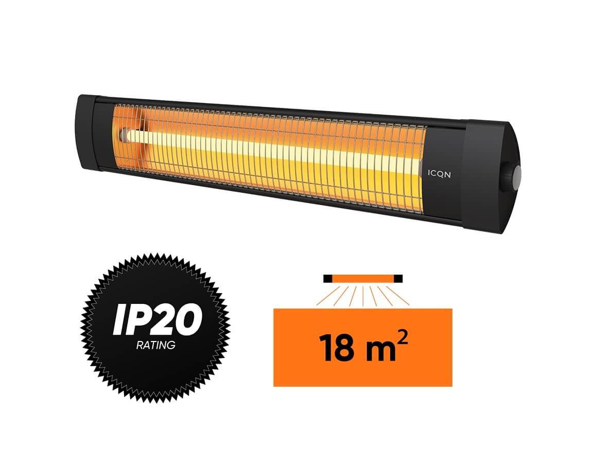 Kvarcinis infraraudonųjų spindulių šildytuvas Simfer S.1820.WTB