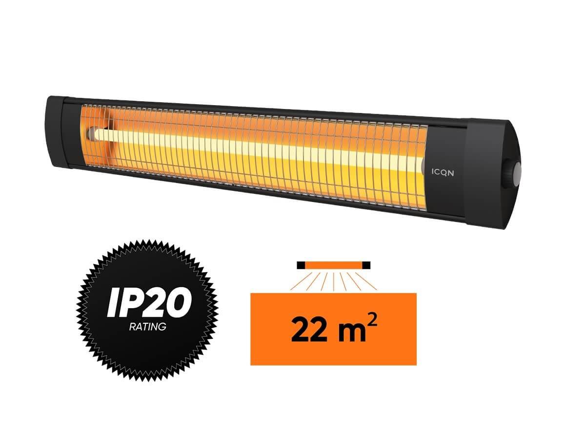 Kvarcinis infraraudonųjų spindulių šildytuvas Simfer S.2320.WTB